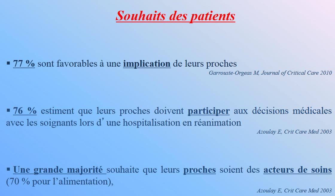 Souhaits patients