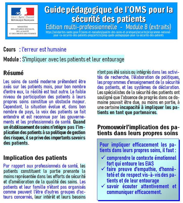 Sécurité patients OMS